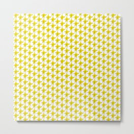 At Least You Tried - Yellow Star Pattern Metal Print