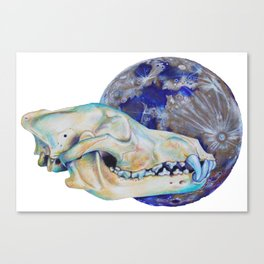 La luna índigo Canvas Print