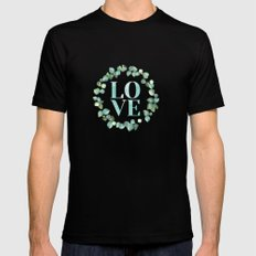 LOVE Black MEDIUM Mens Fitted Tee