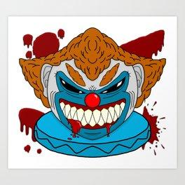 Terror Clown Art Print