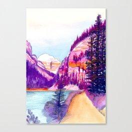 Walk around Lake Louise Canvas Print
