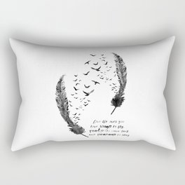 Birds feather Rectangular Pillow