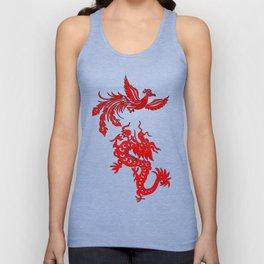 Phoenix Dragon Feng Shui Unisex Tank Top