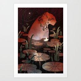 Midnight Dip Art Print