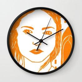 WUTHERING HEIGHTS - LINO (ORANGE VERSION)  Wall Clock