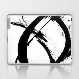 Brushstroke [7]: a minimal, abstract piece in black and white Laptop & iPad Skin