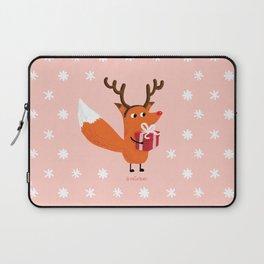 Christmas Deer Fox - The Catbears Laptop Sleeve