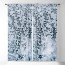 Aerial abstract Ice Patterns - Landscape Photography Blackout Curtain