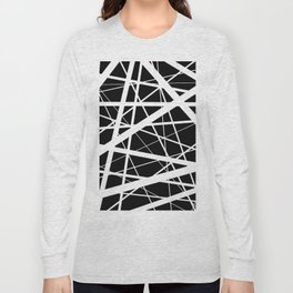Entrapment - Black and white Abstract Long Sleeve T-shirt