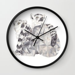 Ring tailed lemurs Wall Clock