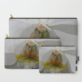 White Orchid Vector Carry-All Pouch