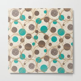 Brown and turquoise Metal Print