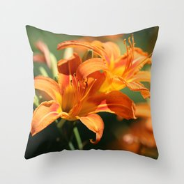 Day Lily Dance Throw Pillow