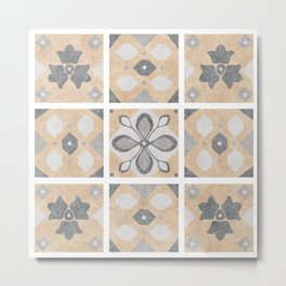 Terracotta Vintage Tiles Design Metal Print