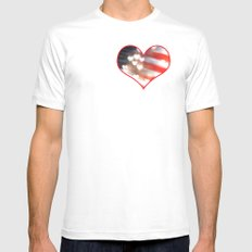 A Love as Big as America White MEDIUM Mens Fitted Tee
