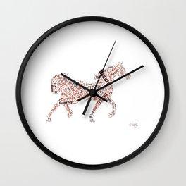 Arabian Horse Words Wall Clock