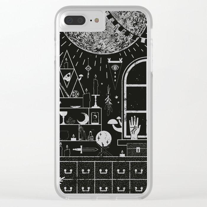 Moon Altar Clear iPhone Case