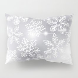 Snowflakes and lights Pillow Sham
