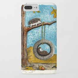 lazy hedgehogs iPhone Case