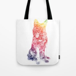 German Shepherd Watercolor Tote Bag