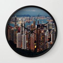 Rainbow Skyline Wall Clock