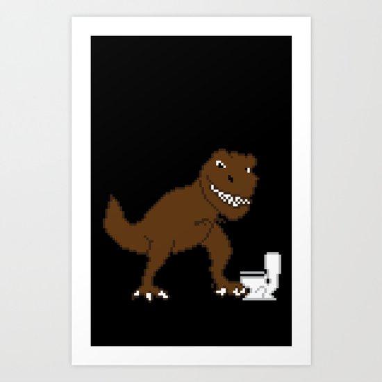 Jurassic Pixel Art Print