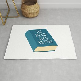 The Movie Was Better Book Rug