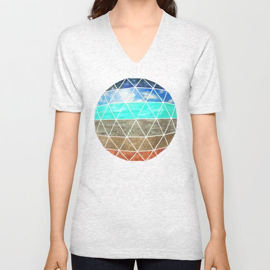 Elemental Geodesic  Unisex V-Neck