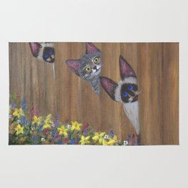 Three Little Kitties Rug