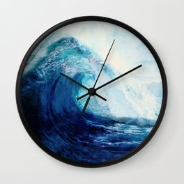 Waves II Wall Clock