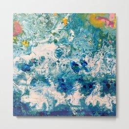 Ocean Art - The Sound of Water Metal Print