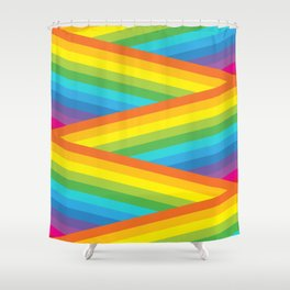 Rainbow Stripes Shower Curtain
