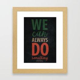 Giovanni Falcone quote, justice, life, fight, civil, political rights, human, politics Framed Art Print