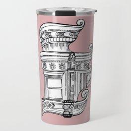Distortions in Pink Travel Mug