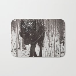 Snow Wolf Bath Mat