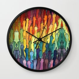 rainbow power Wall Clock
