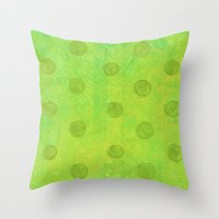 jojo Throw Pillows featuring #51. JOJO - Dots by sylvieceres