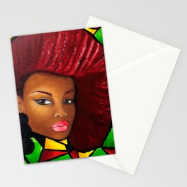 Grounded - Afro Natural Hair Art Stationery Cards