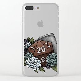 Paladin Class D20 - Tabletop Gaming Dice Clear iPhone Case