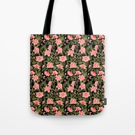 Tropical Pink Floral Pattern Tote Bag