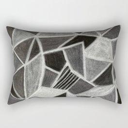 Rock Geode Crystal - Pastel Drawing Rectangular Pillow