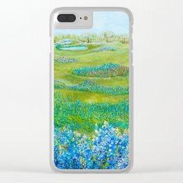 Bluebonnets Clear iPhone Case