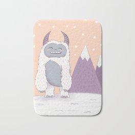 Yeti in the Mountains Bath Mat