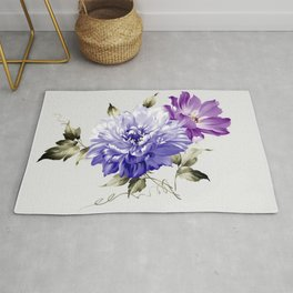 Flowers are full of romance,the leaves and flowers art design Rug