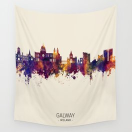 Galway Ireland Skyline Wall Tapestry