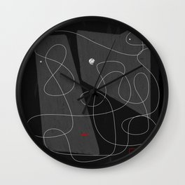 Darth line Wall Clock