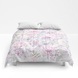 Pink succulents pattern Comforters