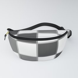 Slate & Gray Checkers / Checkerboard Fanny Pack