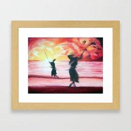 Sword Dancing Framed Art Print