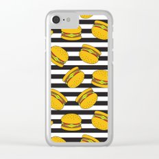 Burger Stripes By Everett Co Clear iPhone Case